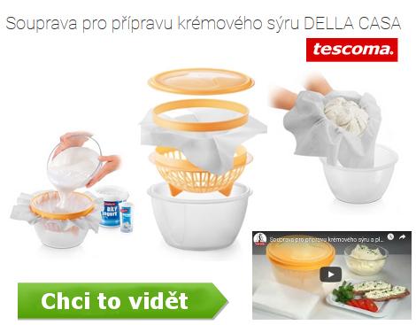 souprava Della Casa z Tescoma na výrobu domácího sýru - včetně videa