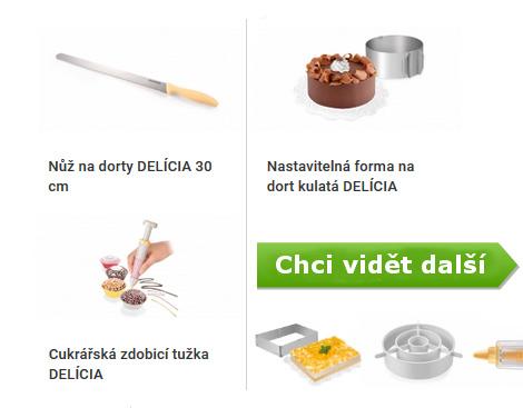 nůž na dorty, forma na dorty, zdobící tužka na dorty a jiné pomůcky pro zdobení dortů