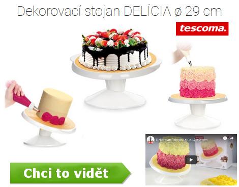 otočný tác např. na natírání dortu krémem - včetně náhledu videa