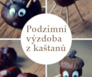 Podzimní výzdoba z kaštanů – inspirace