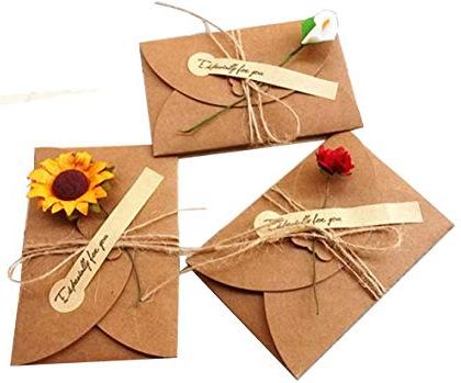 diy vyrobená přání z papíru - přírodní hnědý papír