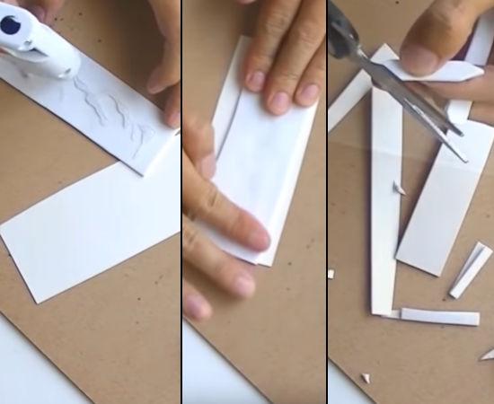 vystřihování z papíru - ručičky hodin