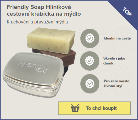 hliníková krabička pro odkládání domácího mýdla