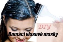 Žena s černými vlasy si nanáší domácí vlasovou masku - úvodní obrázek článku Domácí masky na vlasy pro suché, poškozené i mastné vlasy