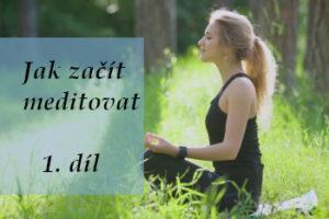 žena sedí v lese a učí se meditovat - úvodní obrázek čánku jak začít meditovat