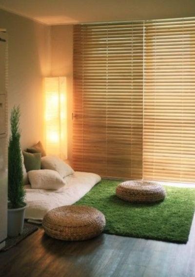 relaxační místnost s osvětlením vhodná pro učení se meditovat