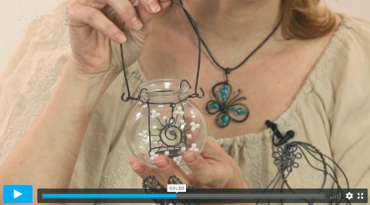 Obrázek z online video kurzu drátkování - motýl a další výrobky technikou drátkování