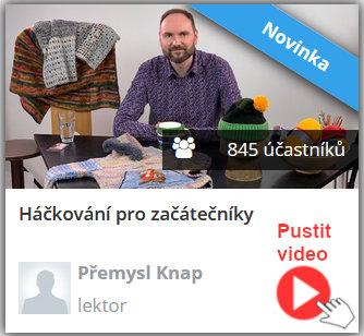 Lektor online video kurzu háčkování pro začátečníky ukazuje na videu jak háčkovat