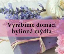 fialové DIY vyrobené bylinné mýdlo - úvodní obrázek článku Ingredience a postup na výrobu přírodního mýdla plného léčivých složek