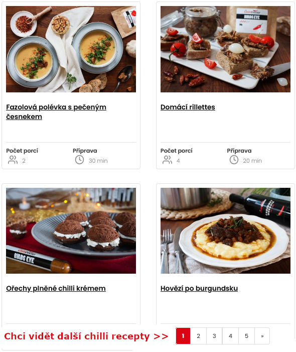 Inspirativní recepty s chilli